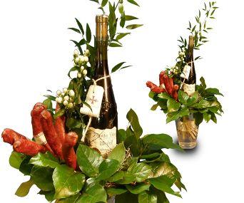 klobásová s vínem klobásová s vínem netradiční kytice s vínem ...